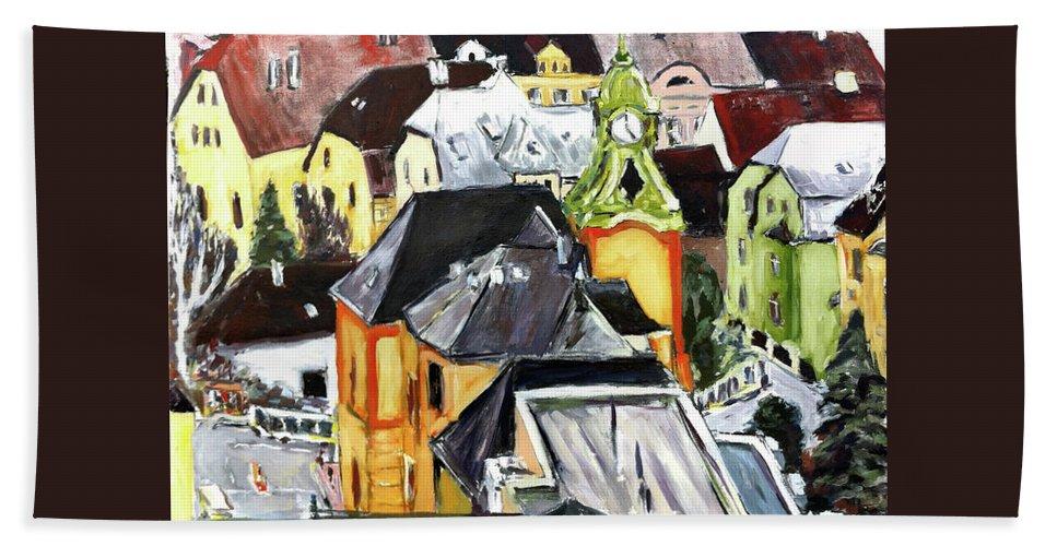 Landscape Beach Towel featuring the painting Nemocnice by Pablo de Choros