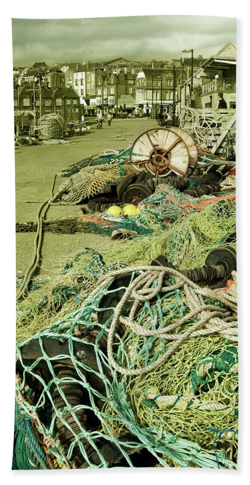 Fish Beach Towel featuring the photograph Nets N Ropes by Rob Hawkins