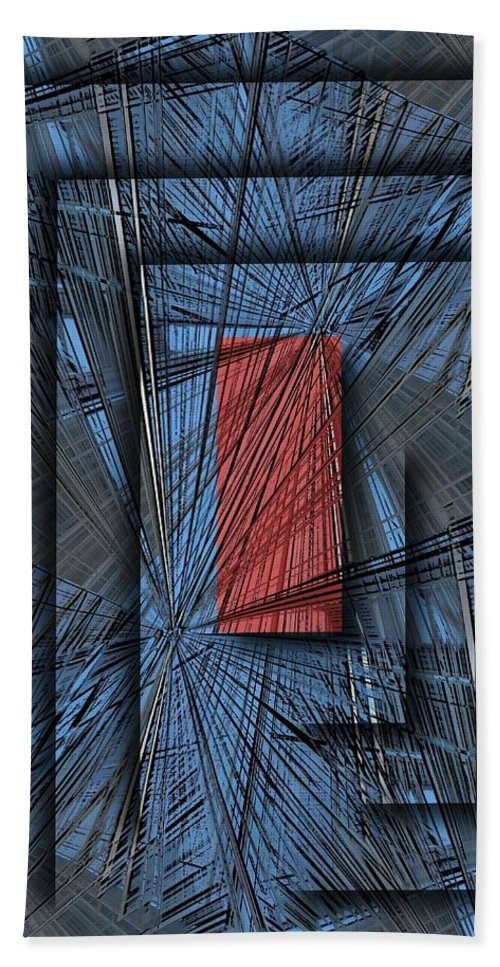 Abstract Beach Towel featuring the digital art Networking by Tim Allen
