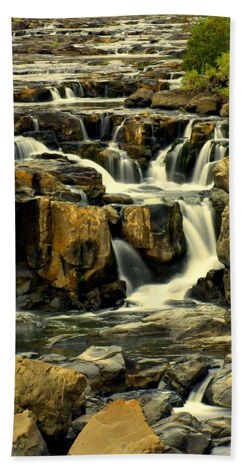 Waterfall Beach Towel featuring the photograph Nevada Falls 5 by Marty Koch