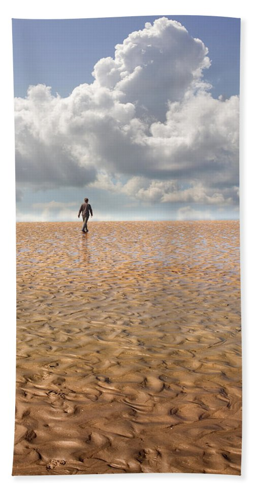 Landscape Beach Sheet featuring the photograph Never Go Back by Mal Bray