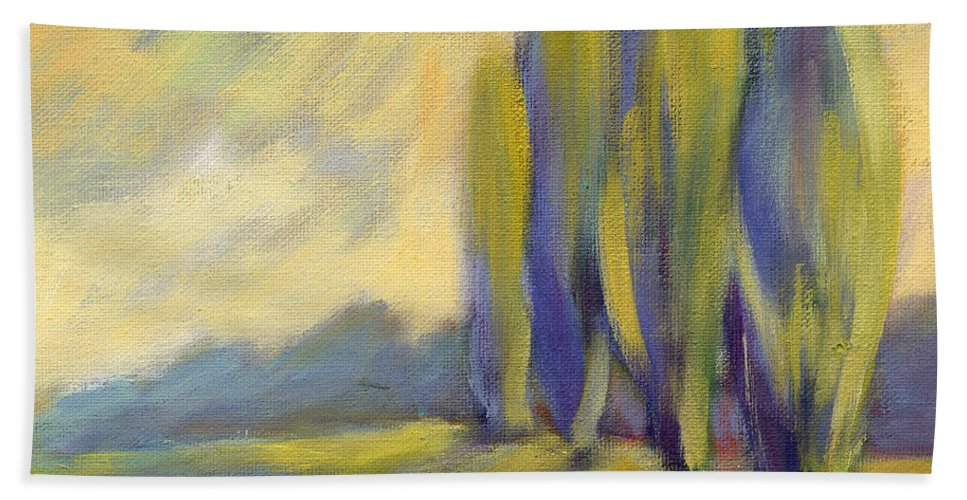 Trees Beach Towel featuring the painting New Beginning 3 by Konnie Kim