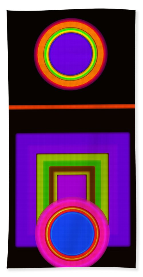 Classical Beach Towel featuring the digital art New Black Classic by Charles Stuart