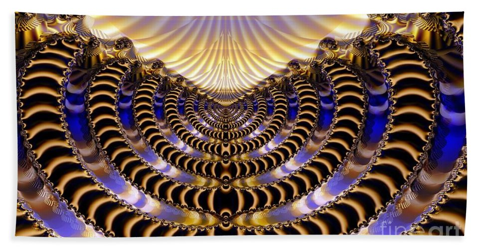 Dawn Beach Towel featuring the digital art New Dawning by Ron Bissett