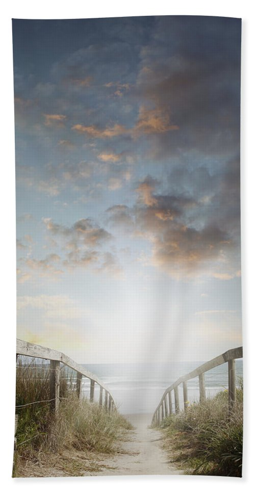 Beach Beach Towel featuring the photograph New Day At The Beach by Les Cunliffe