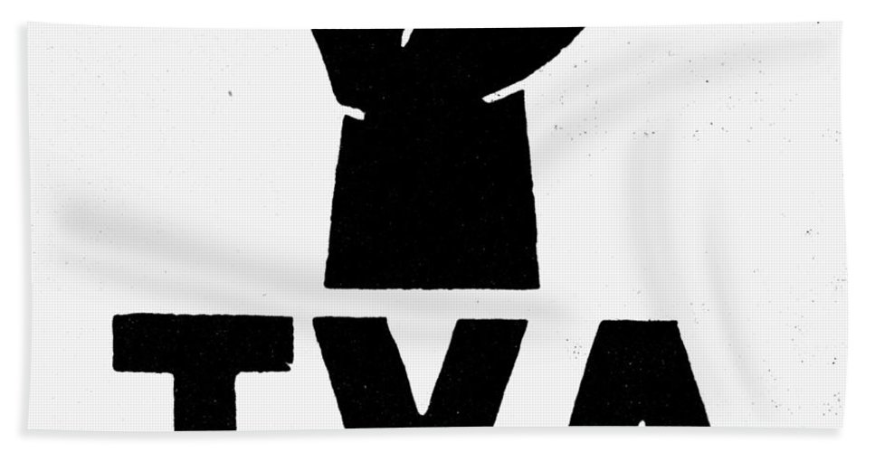 1930s Beach Towel featuring the photograph New Deal: Tva Symbol by Granger
