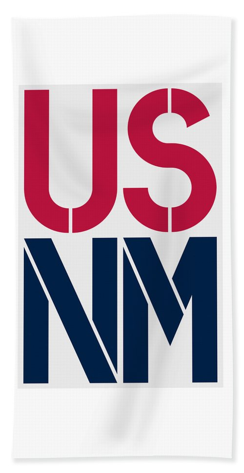 United States Of America Beach Towel featuring the painting New Mexico by Three Dots