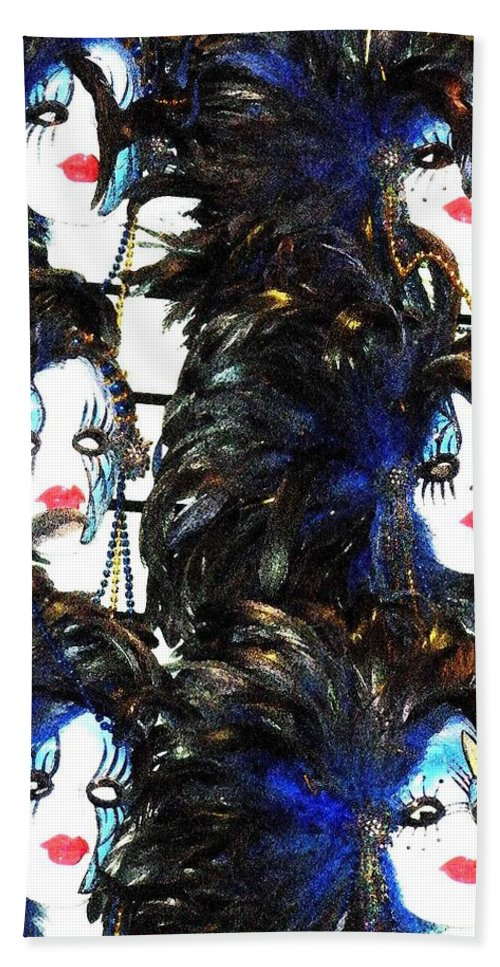 Masks Beach Towel featuring the photograph New Orleans Masks by Nelson Strong