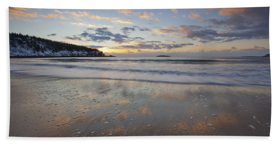 New Year's Beach Towel featuring the photograph New Year's Morning On Sand Beach by Scott Bryson