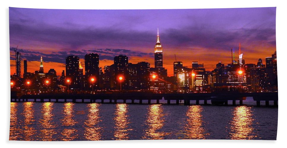 Nyc Beach Towel featuring the photograph New York City by Drew Goehring