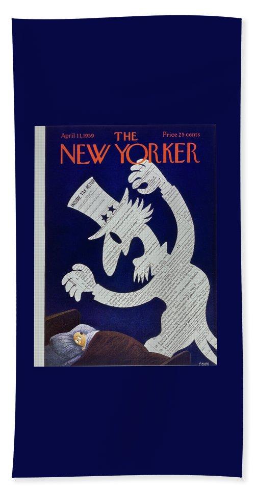 New Yorker April 11 1959 Beach Sheet