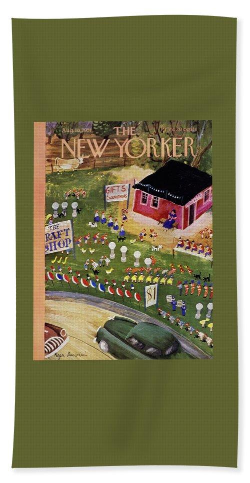 New Yorker August 18 1951 Beach Sheet