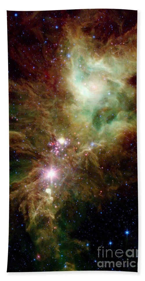 Color Image Beach Towel featuring the photograph Newborn Stars In The Christmas Tree by Stocktrek Images