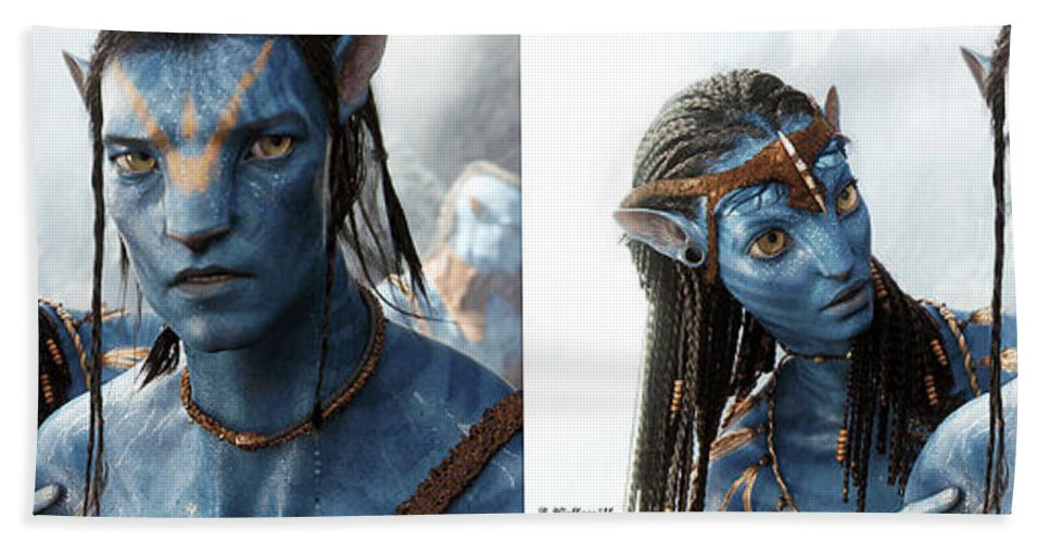 3d Beach Towel featuring the photograph Neytiri And Jake - Gently Cross Your Eyes And Focus On The Middle Image by Brian Wallace