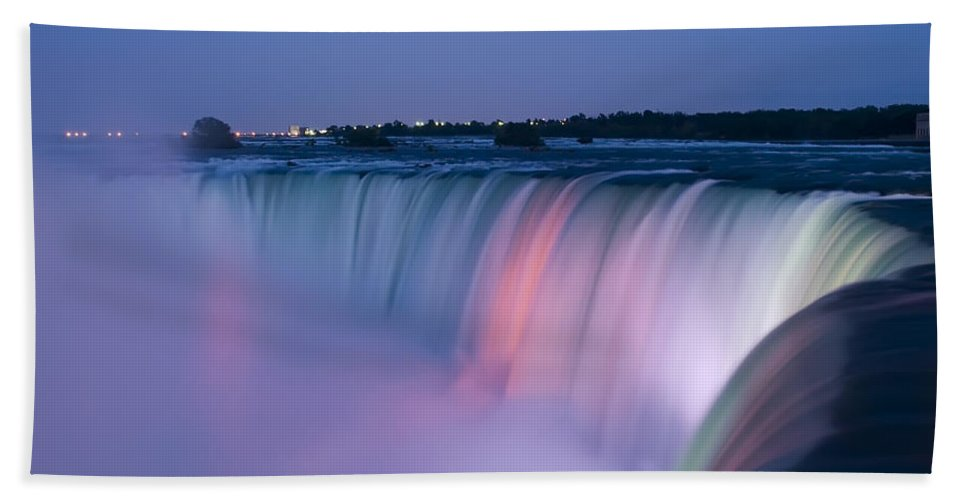 3scape Photos Beach Towel featuring the photograph Niagara Falls at Dusk by Adam Romanowicz