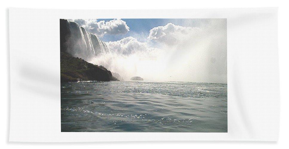 Landscape Beach Towel featuring the photograph Niagara Falls by Debbie Levene