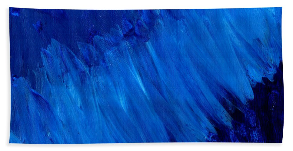 Art & Collectibles Beach Towel featuring the painting Night Blues by Sindy Original
