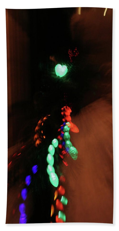 Abstract Beach Towel featuring the photograph Night Diptych 1 by Ric Bascobert