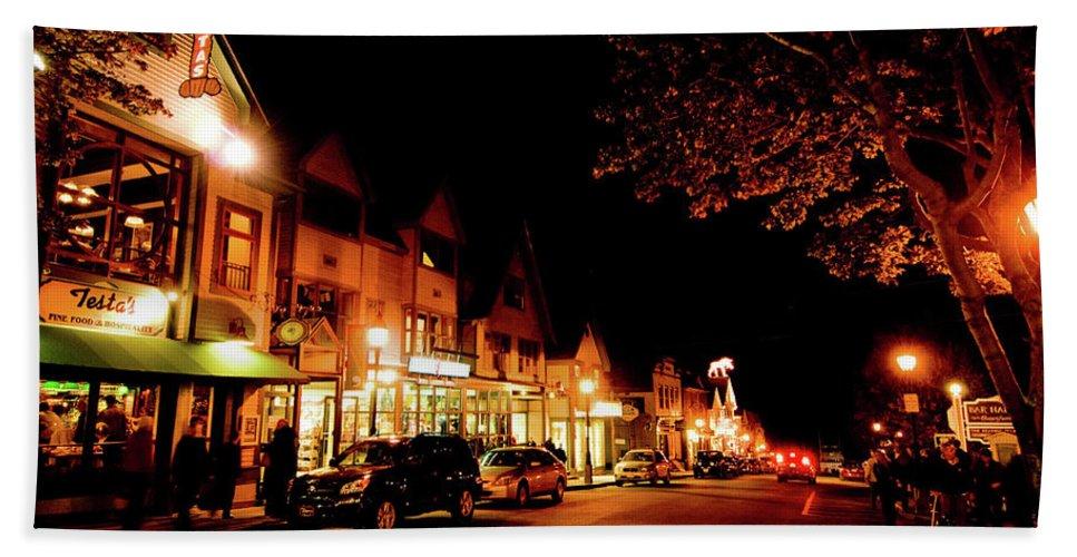 bar Harbor Beach Towel featuring the photograph Night Fall by Paul Mangold