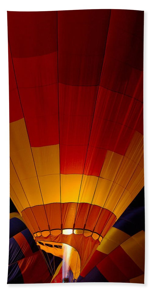 Balloon Beach Towel featuring the photograph Night Flight by Mike Dawson