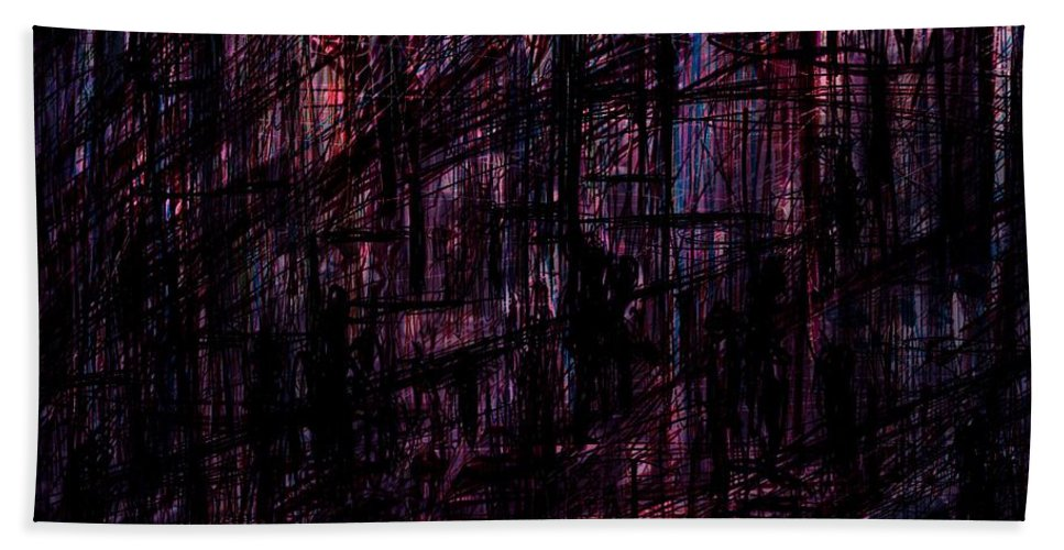 Abstract Beach Towel featuring the digital art Night Lovers by William Russell Nowicki