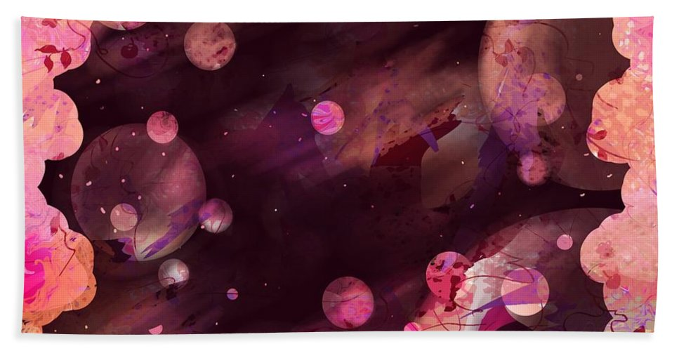 Abstract Beach Towel featuring the digital art Night Passages by Rachel Christine Nowicki