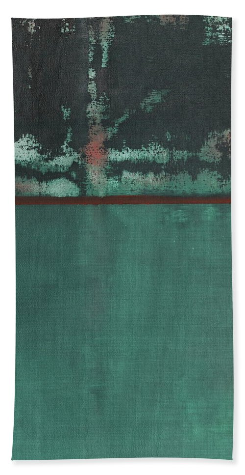 Landscape Beach Towel featuring the painting Night Rain by Tom Brooks