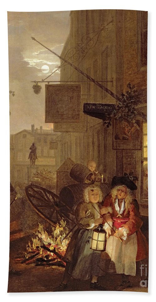 The Beach Towel featuring the painting Night by William Hogarth