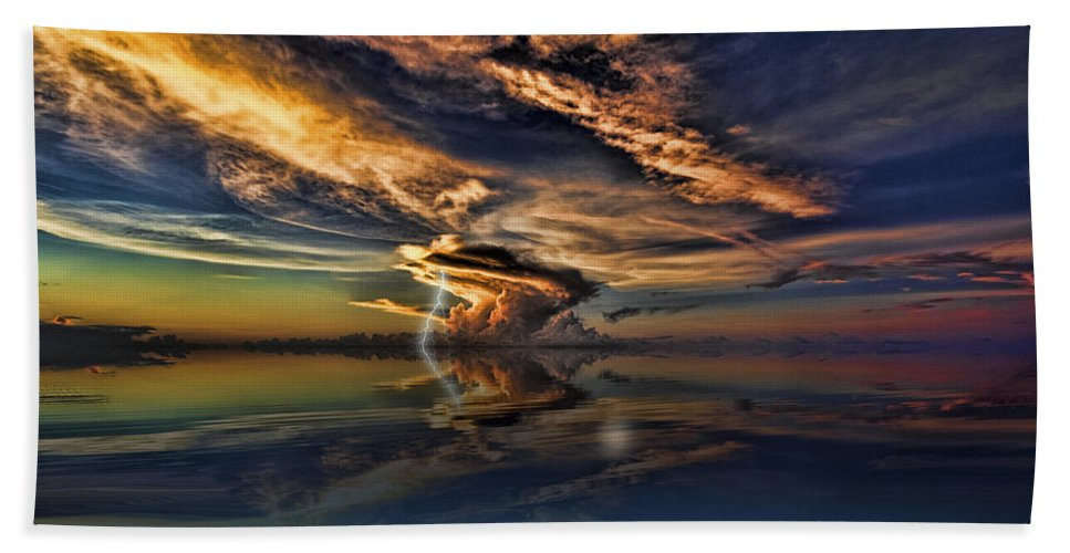 Nightcliff Beach Towel featuring the photograph Nightcliff Pop by Douglas Barnard