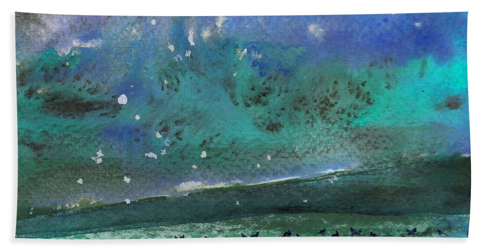 Impressionism Beach Towel featuring the painting Nightfall 25 by Miki De Goodaboom