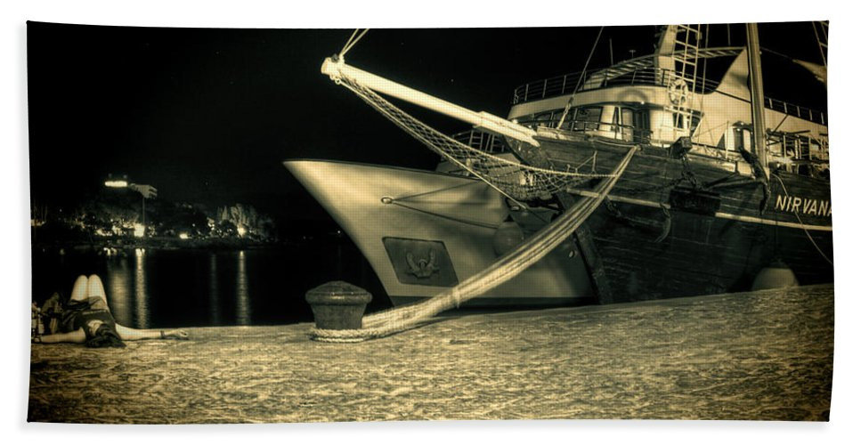 Sailing Ship Beach Towel featuring the photograph Nirvana by Jasna Buncic