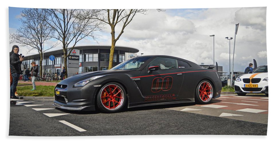Nissan Beach Towel featuring the photograph Nissan GT-R by Jk Photography