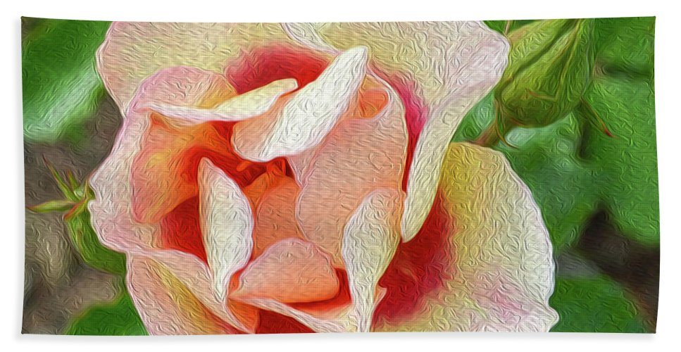 Floral Beach Towel featuring the photograph No Regrets by Tracie Fernandez