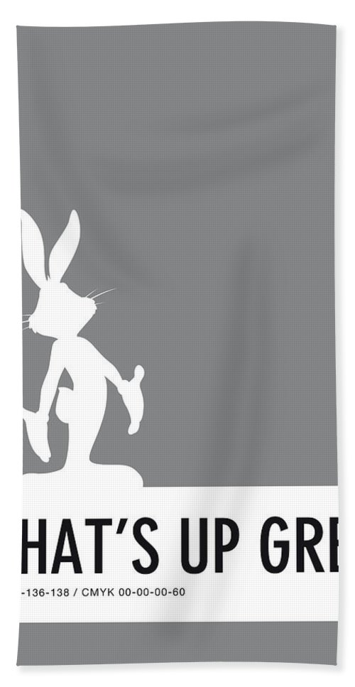 Looney Beach Towel featuring the digital art No06 My Minimal Color Code Poster Bugs by Chungkong Art