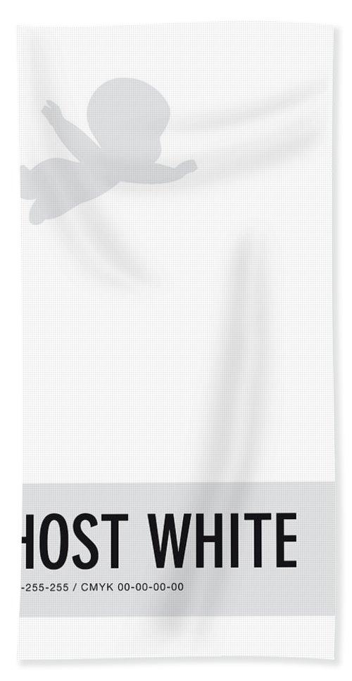 Looney Beach Towel featuring the digital art No09 My Minimal Color Code Poster Casper by Chungkong Art