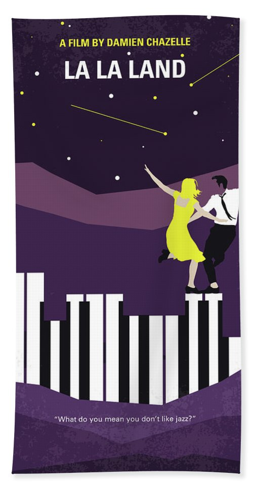 La Beach Towel featuring the digital art No756 My La La Land Minimal Movie Poster by Chungkong Art