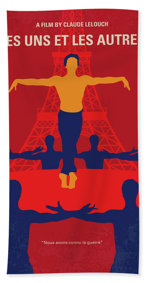 Les Beach Towel featuring the digital art No771 My Les Uns Et Les Autres Minimal Movie Poster by Chungkong Art