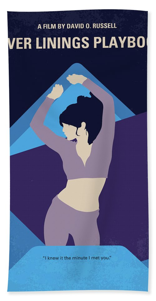 Silver Beach Towel featuring the digital art No832 My Silver Linings Playbook Minimal Movie Poster by Chungkong Art