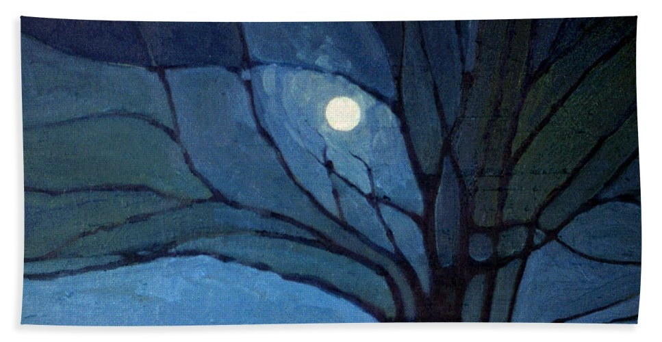 Moonrise Beach Towel featuring the painting Nocturne 71 by Donald Maier