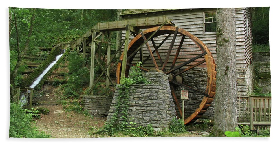 Grist Mill Beach Towel featuring the photograph Rice Grist Mill II by Douglas Stucky