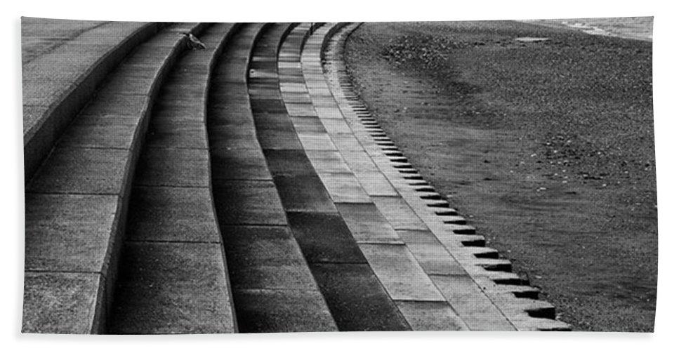 Monochromephotography Beach Towel featuring the photograph North Beach, Heacham, Norfolk, England by John Edwards