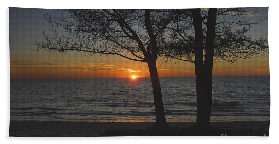 Beach Beach Sheet featuring the photograph North Beach Sunset by David Lee Thompson