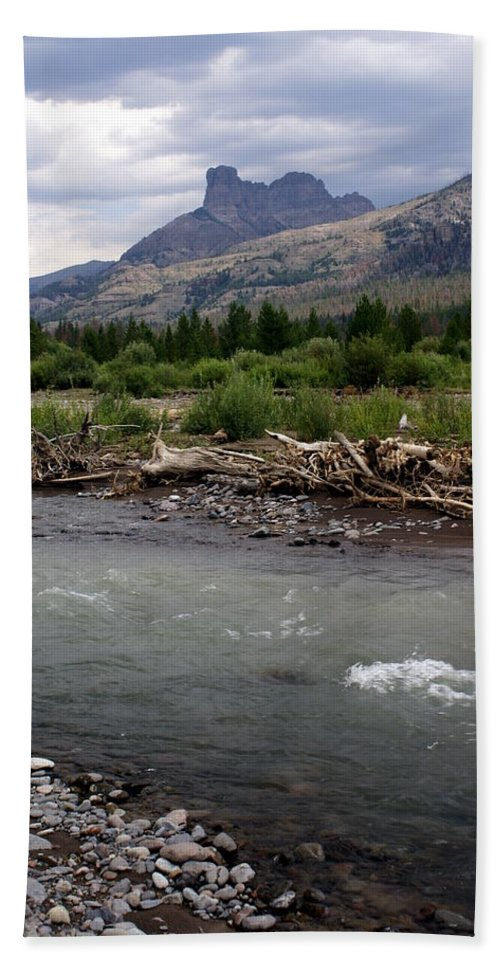 Rivers Beach Towel featuring the photograph North Of Dubois Wy by Marty Koch