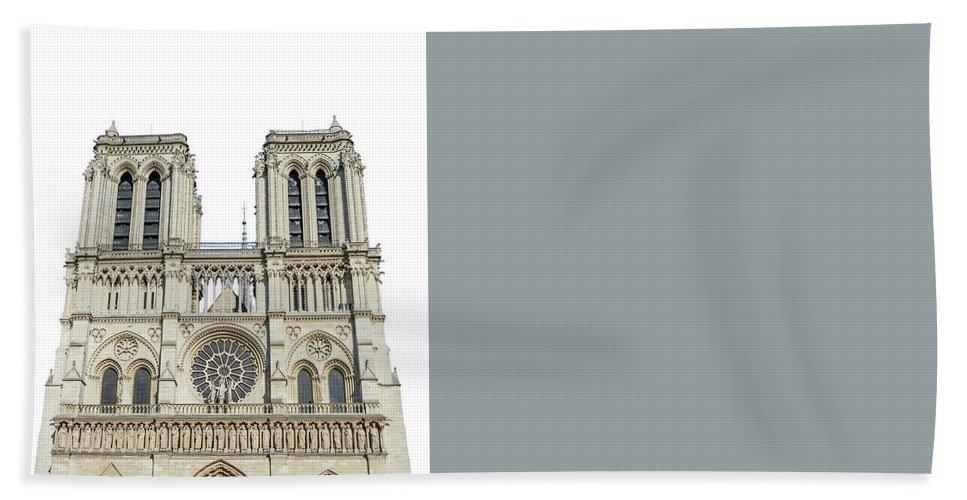 Paris Beach Towel featuring the photograph Notre Dame De Paris by Benny Marty