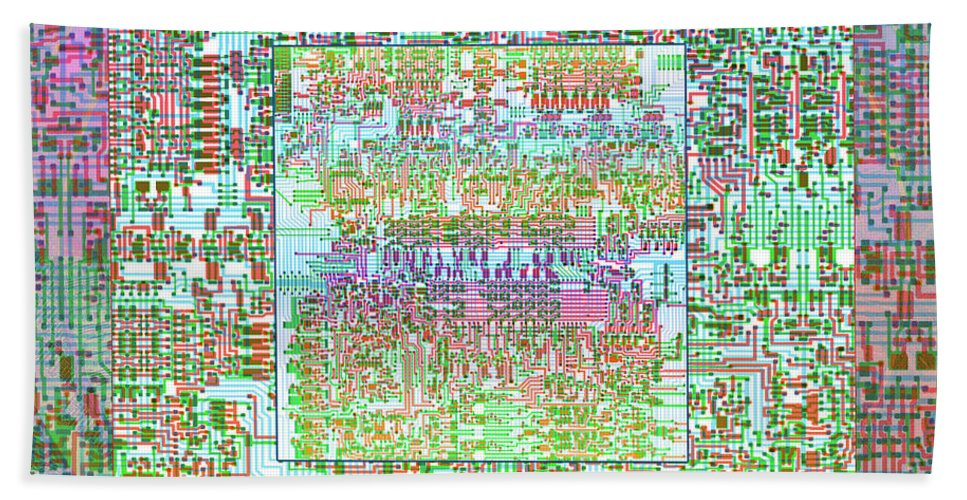 Intel 4004 Cpu Silicon Wafer Computer Chip Integrated ...