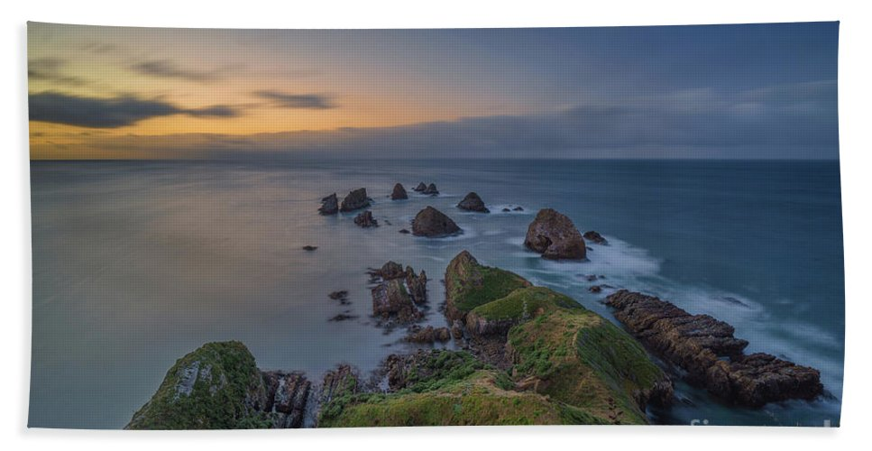 New Zealand Beach Towel featuring the photograph Nugget Point by Kamrul Arifin Mansor