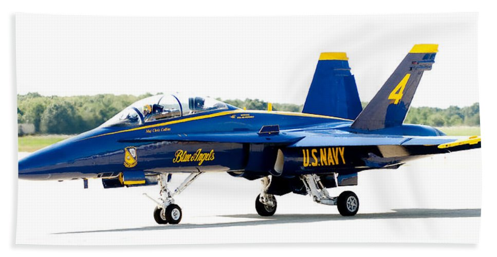 Blue Angel Beach Towel featuring the photograph Number 4 by Greg Fortier