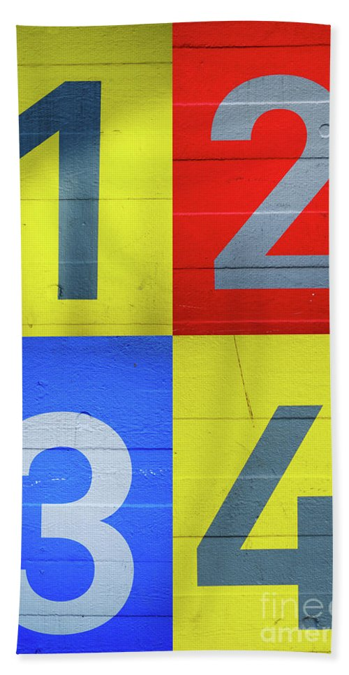 Yellow Beach Towel featuring the photograph Numbers by Benjamin Harte