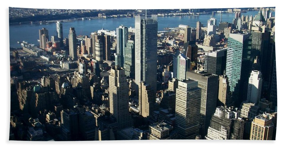 Nyc Beach Towel featuring the photograph Nyc 1 by Anita Burgermeister