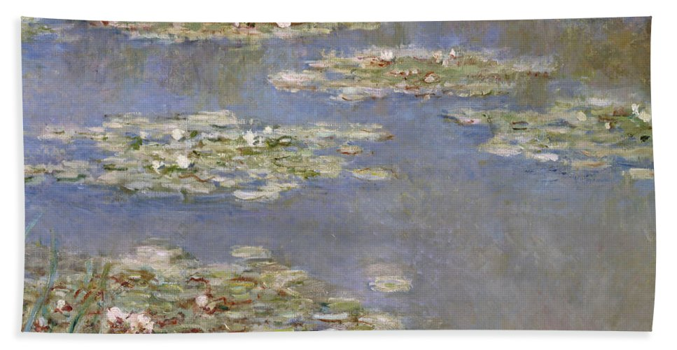 French Beach Towel featuring the painting Nympheas by Claude Monet